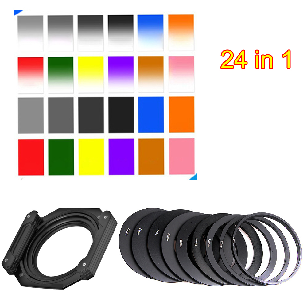 2018 Graduated Color Square Filter ND Neutral Density Cokin P series For nikon canon D5200 D5300 D5500 52MM 55MM 58MM 62MM 77MM