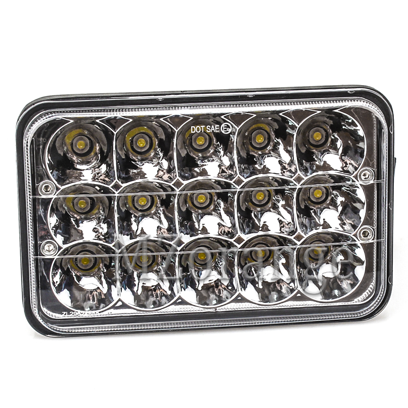 MZORANGE Led Headlights Rectangle 45w 4x6inch for 357 378 379 Led Headlight 4x6 Led Headlights 4x6 Hi/Low Led Sealed Beam light
