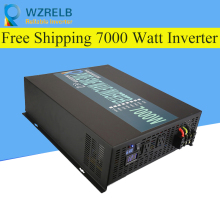 Reliable Peak 7000W Pure Sine Wave OFF Grid Inverter DC12V/24V to AC220V Power Inverter Converter Houseuse Solar System decen 24v 3000w peak power 6000w pure sine wave solar off grid inverter built in 40a mppt controller with communication lcd
