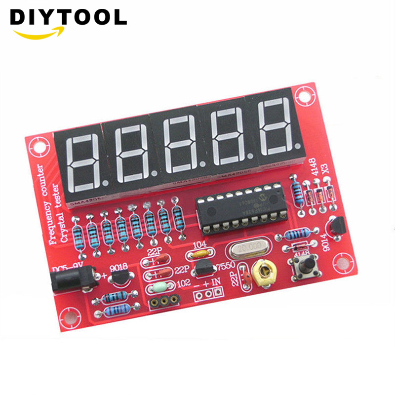 1Hz-50MHz Crystal Oscillator Frequency Counter Tester DIY Kit 5 Digits Resolution New Frequency Meters Frecuencimetro