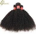 Beauty forever pelo afro rizado rizado armadura del pelo humano bresilien cheveux tissage kinky rizado pelo virginal barato brasileña bundles