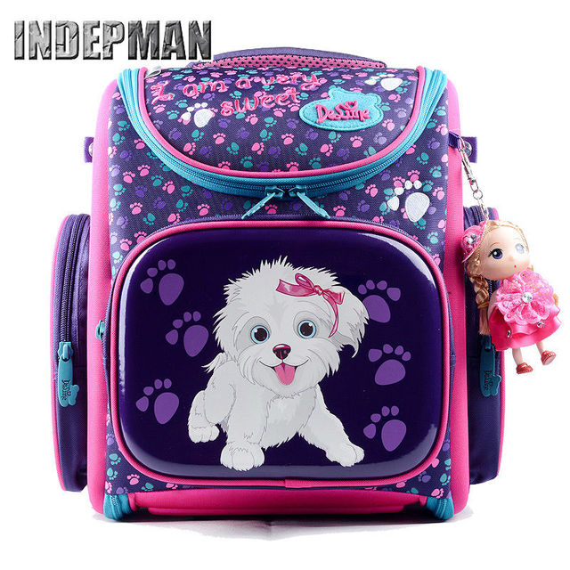 Hot Delune Kids Backpack Kindergarten School Bags for Girls Boys Waterproof Cartoon Children Mochila Escolar Infantil Schoolbag