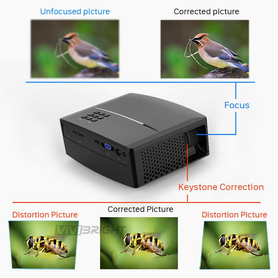 US $76 15 56% OFF|VIVIBRIGHT LED Projector GP80 / UP  1800 Lumens   (Optional Android 6 0 1, WIFI, Bluetooth Simple Beamer) Support Full HD,  1080P-in