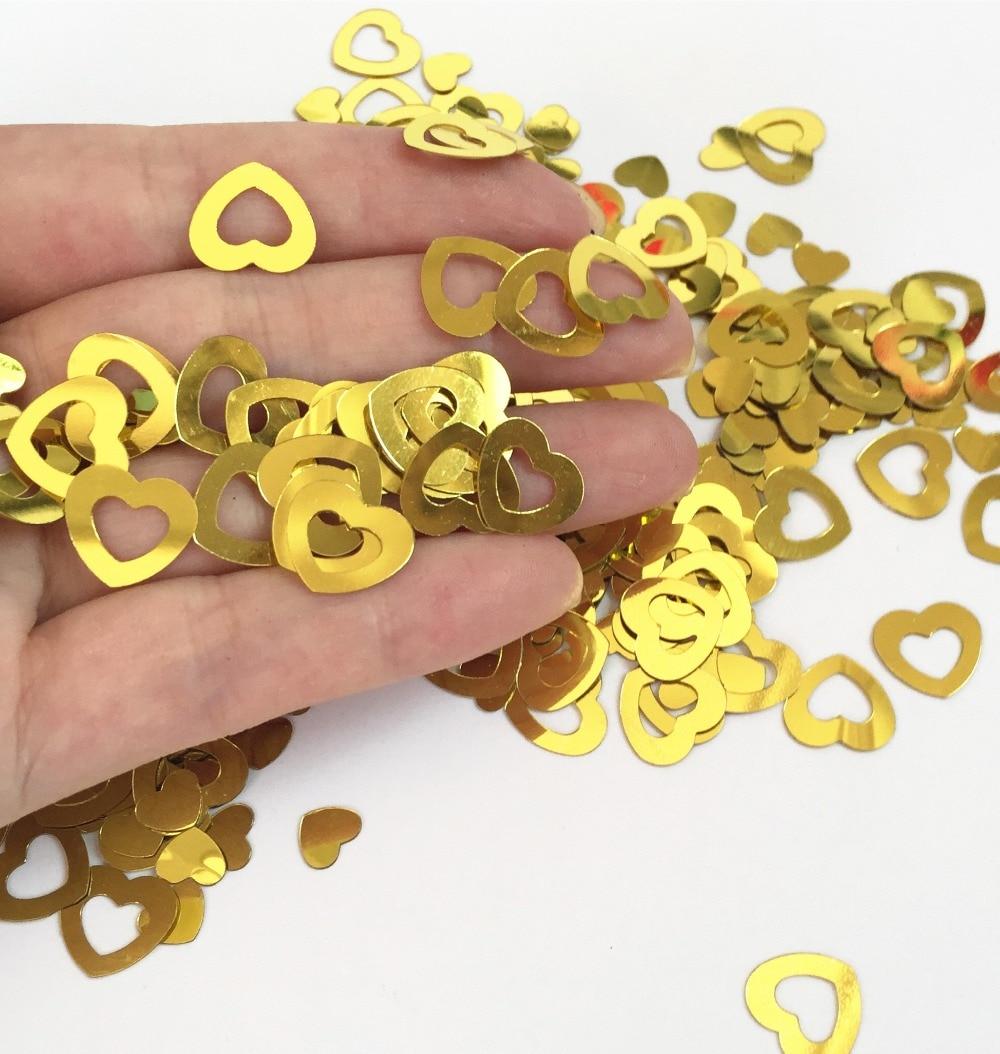 Aliexpress Buy Gold Die Cut Hollow Gold Heart Foil Confetti