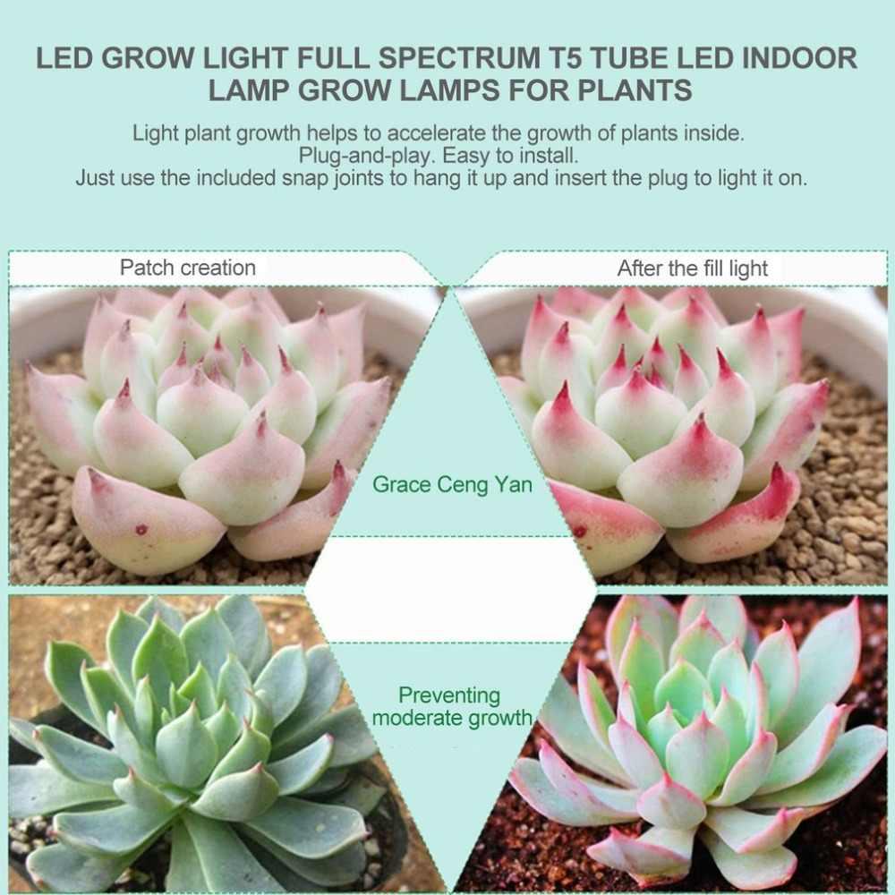 ICOCO 5 pièces/ensemble LED cultiver des lumières plein spectre T5 Tube plante d'intérieur système hydroponique serre LED cultiver des plantes lampes Kits