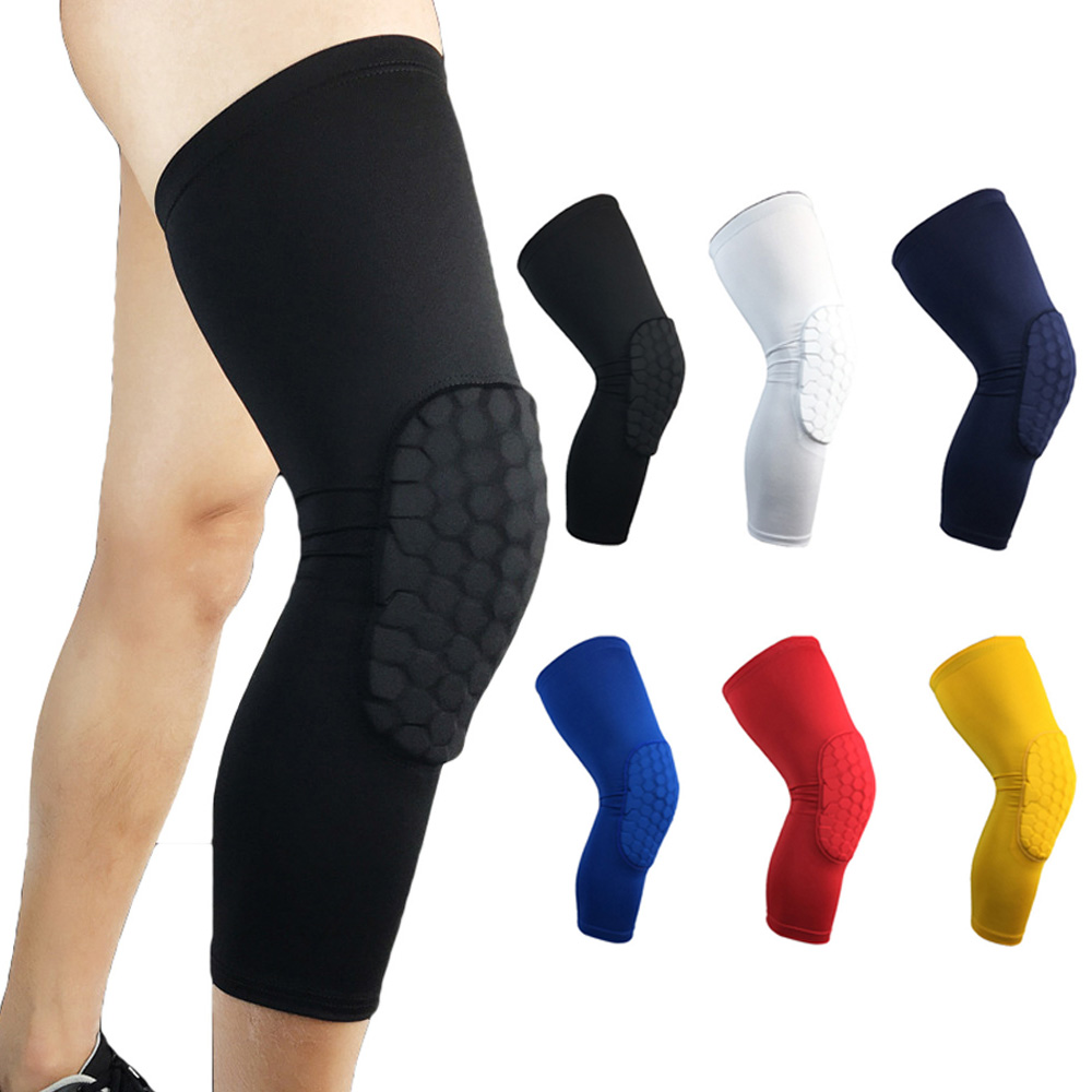 Elastic Sports Knee Protectors Anti-collision Outdoor Basketball Leg Guards SPSLF0003