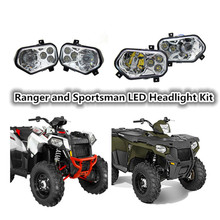 1Set For Polaris Ranger Side X Sides and Sportsman ATV UTV accessories Light Projector Led Headlight kit LED Headlamp Kit