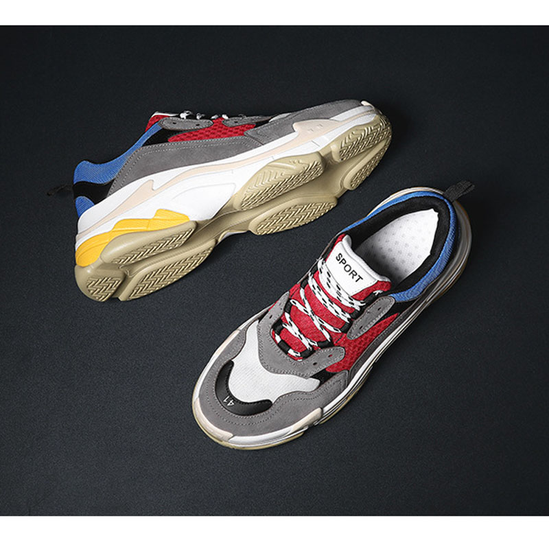 Hot Shoes Woman 2018 Spring New Arrivals Sports Shoe Fashion Trend Leisure Comfort Lace-Up Mixed Colors Sewing 4 Colors 2018 spring sports and leisure trend van gogh wind shoes