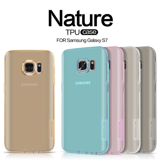 Nillkin nature Transparent Clear Soft TPU Protector case cover for samsung galaxy s7 (5.1'')