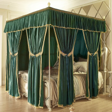 New Green Pink Gray European Palace Style Luxury Three Open Door Mosquito Net Bed Valance Room decoration Bedding Set