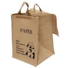 Large Cotton Linen Folding Laundry Washing Clothe Basket Bag Bin Storage Hamper(Milk box Pattern)