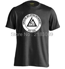 Gracie Academy Jiu Jitsu Mens & Womens Summer Cotton Fitness T Shirt Casual T Shirt
