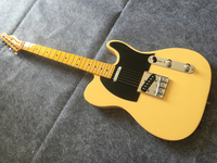 Electric guitar milk yellow maple neck 6 strings electric guitar free delivery