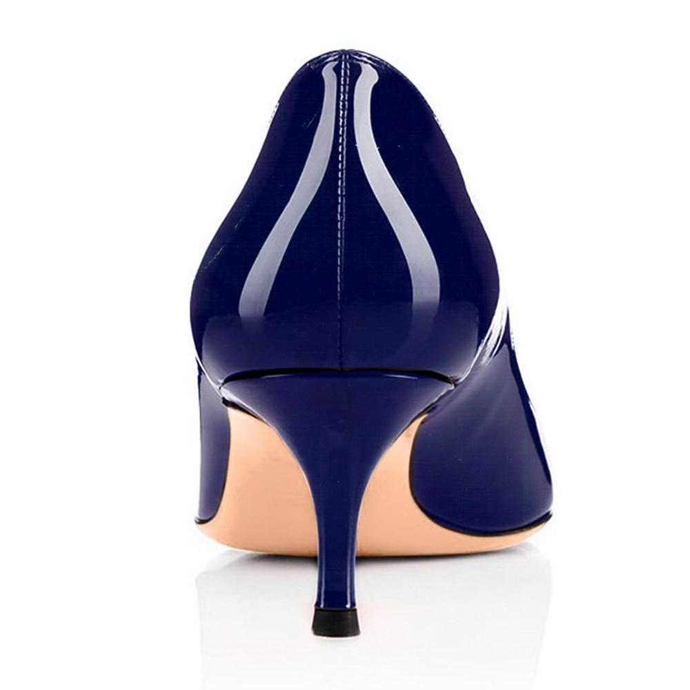 5ea49df9f997b Amourplato Women s Kitten Heel Pumps Slip On Closed Toe Patent Shoes ...