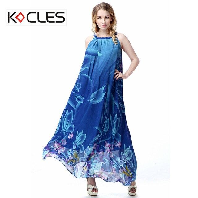 5d4deaadc6d Plus Size 6 7XL Women Summer Holiday Bohemian Maxi Vestido Belted Irregular Flower  Floral Print Sleeveless Long Boho Beach Dress