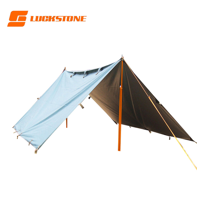 Sun Shelter Tent Waterproof Awning Hiking Portable Canopy Outdoor Gazebo Camping Tent 3.2*3m Big Size Silver Coating Tarp Tent