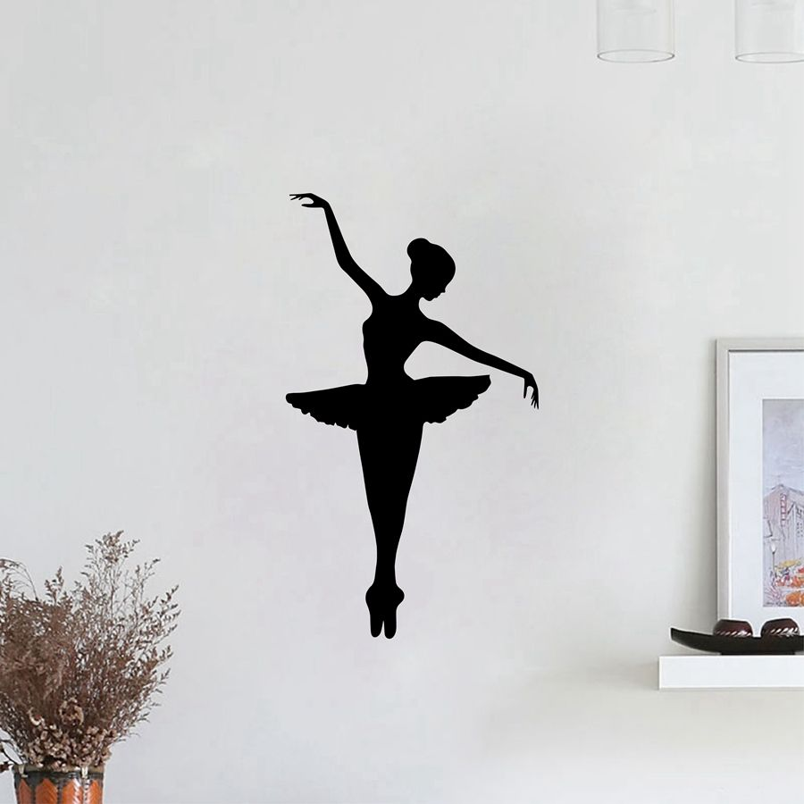 Ballerina Vinyl Wall Sticker Removable Vinyl Nursery Kids Bedroom Wall Decal Girl Dancer Dancing Ballet Graphic Wall Mural AY254 in Wall Stickers from Home Garden