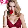 GIRLADY Sexy Women Bra Brief Sets Lace Transparent Lingerie Underwear Set Women A B C Cup Red Push Up Bra And Panty Set Brand
