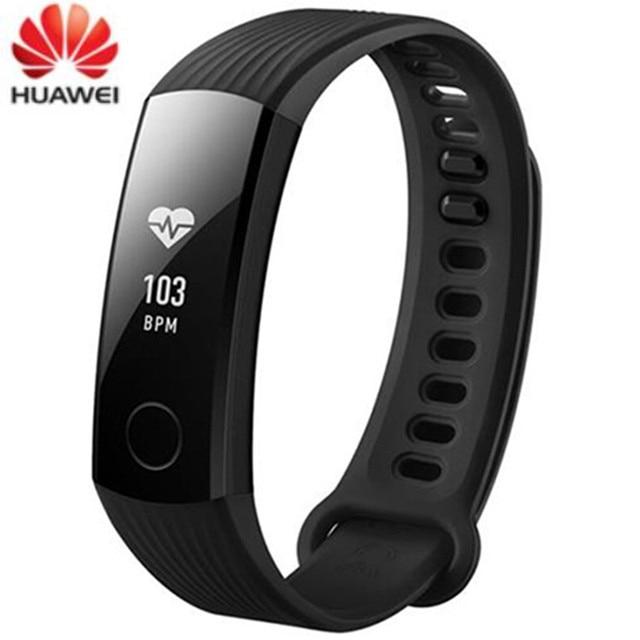 HUAWEI Honor Band 3 сердечного ритма мониторы калорий шагомер OLED экран браслет Swimmable смарт