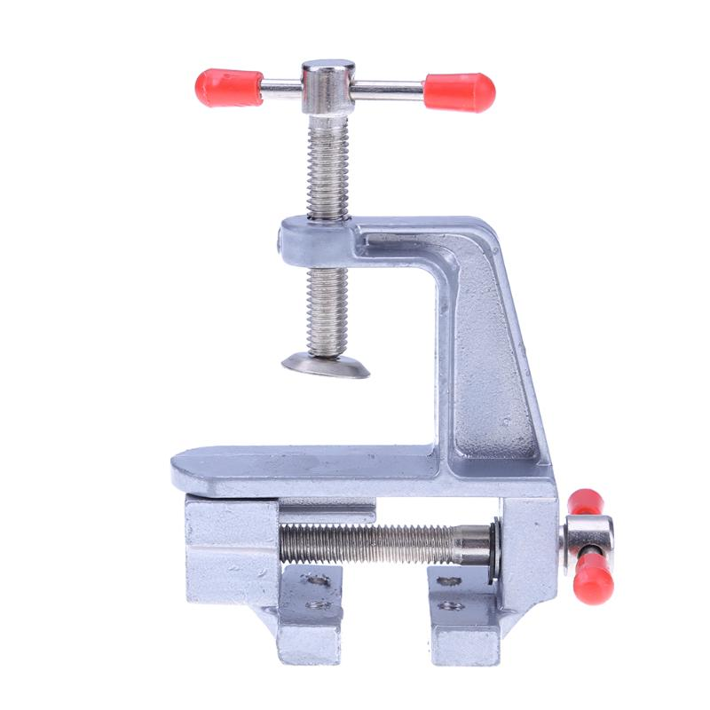 Mini Table Vise Bench Vice Aluminium alloy Vise Tool Aluminum Small Jewelers Hobby Clamp On Table Bench Vice 10x8x3.5cm