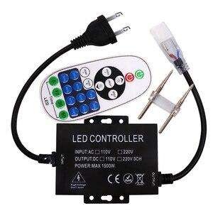 110 v 220 v 1500 w 23 4keys Sem Fio RF Controle Remoto Mini Dimmer + AU/EU/REINO UNIDO /EUA Ligue Para Cor Única Led Strip 6/8/10/15mm PCB