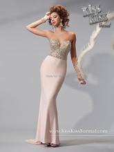 2015 New Fashion Backless Chiffon Vestidos Sweetheart Beading Floor length Sweep strain Flormal Evening Prom Dress For women