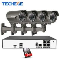 Techege 8CH 3MP 48V Real PoE NVR 2048 1536 2 8 12mm Zoom Lens 3 0MP