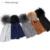 GZHilovingL INS Hot Winter Slouch Gorros Con Pompón De Piel Sombreros las mujeres de Algodón Suave Otoño Color Sólido de Piel Gorros de Bolas Cap