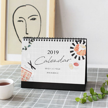 2019 NEW Kawaii Simple Design Life Calendar 21*14cm Schedule Creative Desk Table Dates Reminder Timetable Planner sl1314