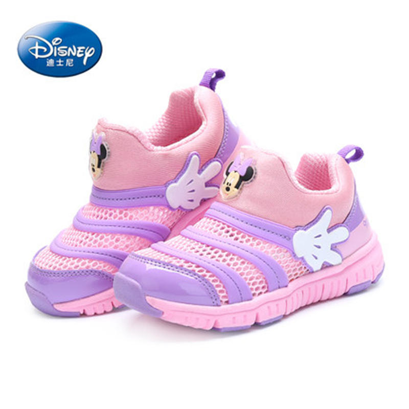 Disney Caterpillar shoes 2019 New Spring Mesh Sports shoes Child Girl Princess shoes 26 35