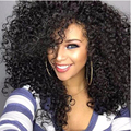 Sofeel sexy long black wig kinky curly highlights hairstyles afro kinky wigs for black women costume wig