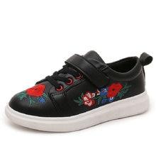 Дитячі дитячі вітрини модні кросівки осені вишиті шкіра PU дитячі хлопчики спортивне взуття м'які підошви розмір 27 ~ 37