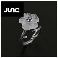 New Arrival! Genuine 925 Sterling Silver Handmade Jewelry Original Design Fresh Lotus Flower Ring For Women Christmas Gift