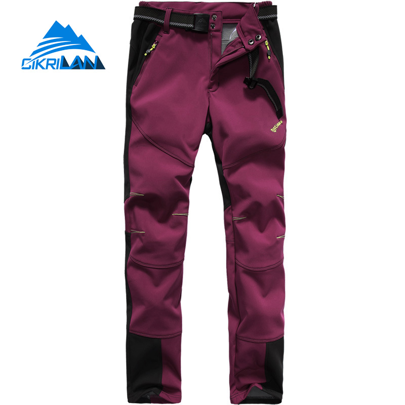 Hot Sale Water Resistant Outdoor Sport Hiking Camping Trousers Warm Softshell Pants Women Windproof Climbing Pantalones Mujer brand new autumn winter men hiking pants windproof outdoor sport man camping climbing trousers big sizes m 4xl free shipping