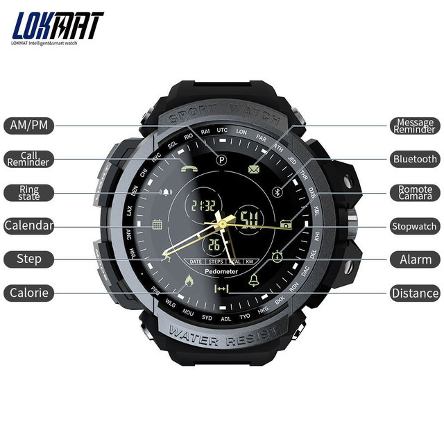 New LOKMAT SmartWatch Sports 50m Waterproof Bluetooth Call Reminder men Smart Watch For ios and Android phone 2