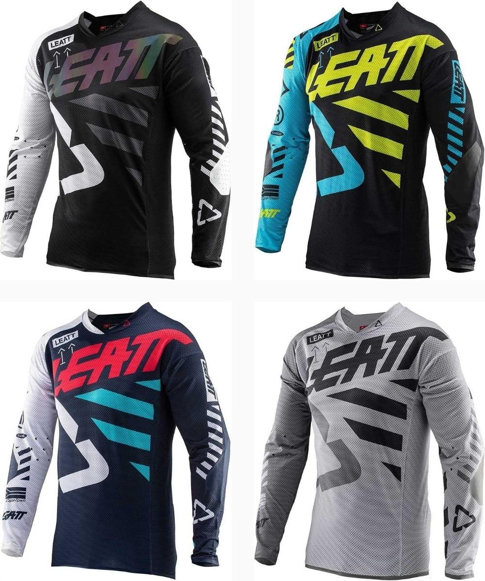 7f7a49d9b47 LEATT Mountain Bike Motorcycle Jersey for Men MTB T Shirt
