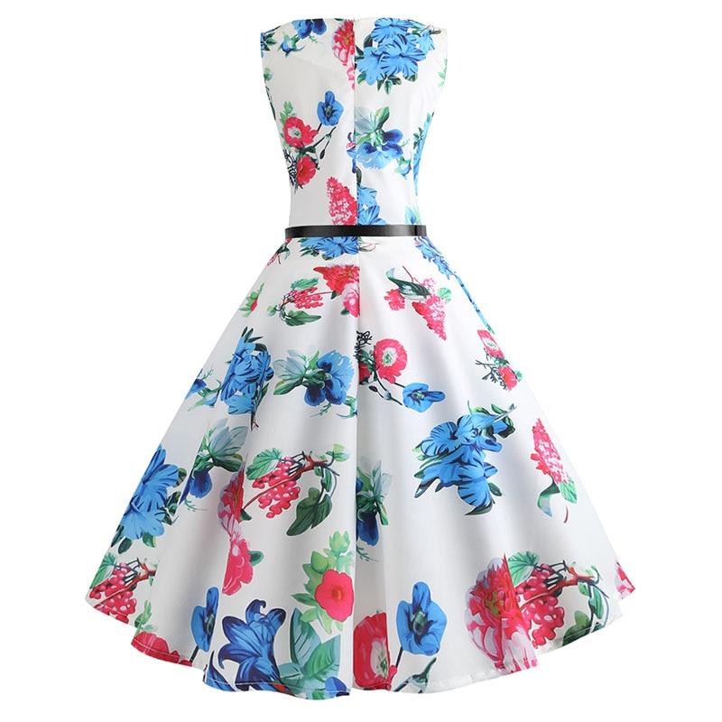 Blue Vintage Swing Dress 12