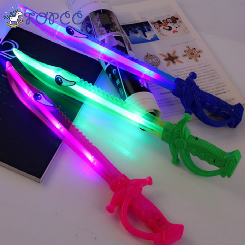 1PCS Shark Knife Laser Sword Luminous Toy Lightsaber Weapon Model Creative Gifts Childrens Outdoor Boys Girls Flashing Sword