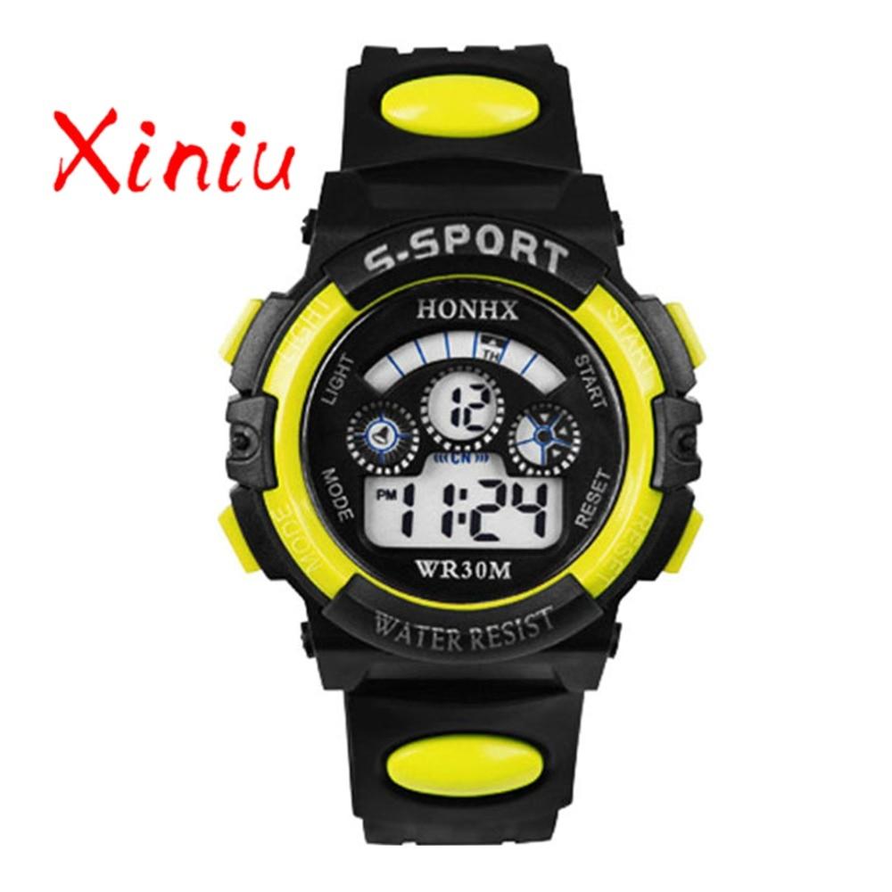 Honhx Children Watch Kids Boy Digital Quartz Date Fashion Sports Wristwatch Girl Watches Gifts Drop Shipping #4