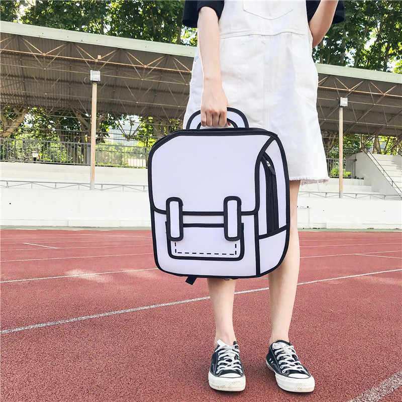Мультфильм большой емкости холщовые рюкзаки для женщин девочек 3D Kawaii забавная сумка дизайнерский рюкзак для ноутбука Студенческая школьная сумка для подростков