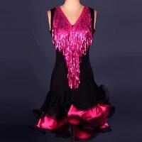 2017 High End Custom Latin Dance Costumes For Women/Girls Cha Cha/Rumba/Samba/Ballroom Dress For Dancing Stage Costumes Tassel