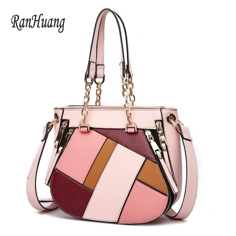 RanHuang New 2018 Women Fashion Handbags High Quality Pu Leather Handbags Women's Luxury Shoulder Bags Designer Messenger Bags