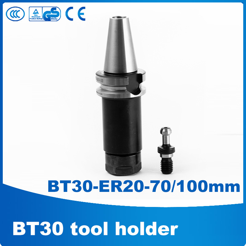 BT30 ER20 70/100 BT30 tool holder er20 collet chuck + Pull nails quick change tool holders A113 bt30 tool holder clamp iron abs flame proof rubber bt30 tool holder claw