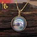 NINFA marca Japão mabey pearl pendant, 14-15mm big size boa luster colar pingente PH004