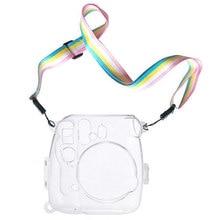 Powstro Fällen Für Fujifilm Instax Mini 9 Kamera Schutz Fall Transparent Kunststoff Abdeckung Mit Gurt Für Fuji Mini 8/8 Tasche