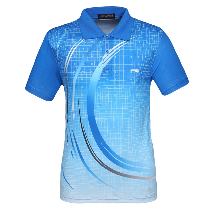 Men table tennis jersey sport polo shirts wicking training for Men s athletic polo shirts