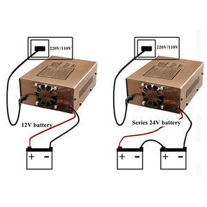 Image 3 - Carregador de Bateria de carro 12v 24v Tipo de Reparação de Pulso Inteligente Carregador de Bateria de Carro Elétrico Automático Completo 100AH para Motocicleta
