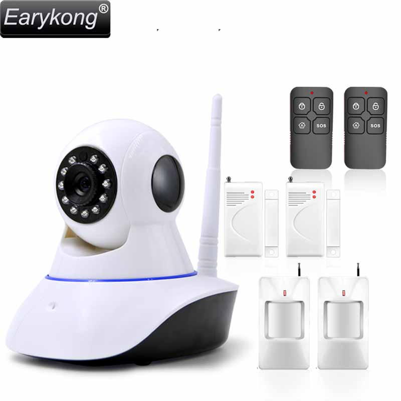 Free Shipping WAN & Wifi Camera , IP Camera with 433MHz alarm, you can add door detector, movement detector etc. free shipping dc12v 433mhz metal