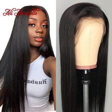 Ali Annabelle Brazilian Straight Lace Front Human Hair Wigs For Women Remy Hair Straight Wig With Baby Hair Natural Hairline(China)