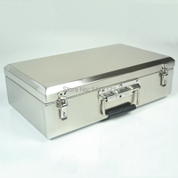 Portable Stainless Steel Toolcase Home Storage Box Tools Packaging